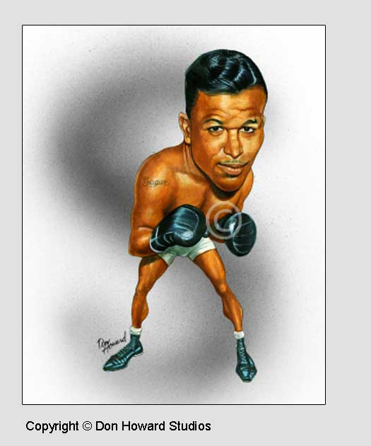 Sugar Ray Robinson 8x10 Color Print